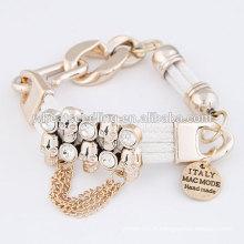 Bracelets à main en métal punk féminin