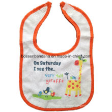 OEM Produce Customized Design Printed Cute Cartoon Cotton Terry Infant Baby Bibs