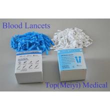 Lancetas de sangre Lancetas de torsión