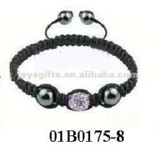 brithday gift pray crystal bracelet wholesale shamballa beads skull shamballa bracelet with Polymer clay Crystal balls
