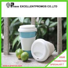 Logotipo personalizó la taza de bambú de la fibra con la tapa del silicón (EP-M9041)