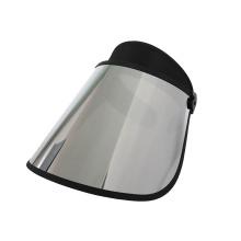 Silver scratch-resistant lens sun visor caps
