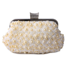 White Pearl Beaded Evening Clutch Bag Bride Bag For Wedding Evening Party Use Bridal HandBags B00003 lady handbag