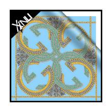 Impresión digital de 2014 SS en pañuelo de seda