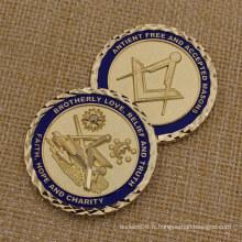 Monnaie maçonnique en métal pour le souvenir 2015 Custom Challenge Coin