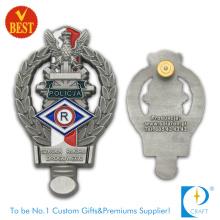 Emblema da polícia de Canadá no projeto personalizado com liga do zinco