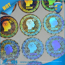 Etiqueta de impressão holográfica impressa em sílica de fábrica impressão a cores azul impressão a laser transparente holograma transparente