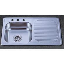 Solo fregadero de la cocina del acero inoxidable del tazón de fuente con el drenaje (KTS8050)
