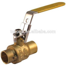 lead free welded full port upc brass ul solder ball valves with locking handle