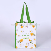 Eco Promotional Laminated Polypropylene PP Woven Shopping Tote Bag Grocery For Supermarket And Advertising