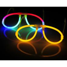Óculos de brilho de plástico colorido decoração de festa Glow Eyeglasses