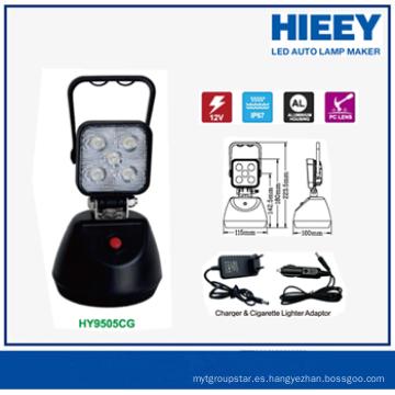 Luz portable del trabajo de 15W LED que destella mini con el cargador