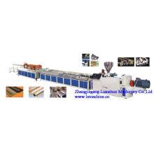 Perfil de PVC CE/GV/ISO9001 e linha de extrusão de madeira-plástico