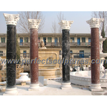 Columna romana con arenisca de granito de mármol de piedra (QCM118)