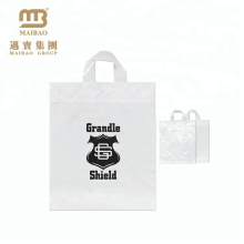 100% Eco-friendly Durable PE Custom Printed Shopping Transparent Plastic Gift Bags with Own Logo