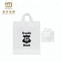 100% Эко-дружественных прочный PE напечатанные таможней Ходя по магазинам прозрачный пластик подарок сумки с собственный логотип