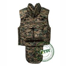 Chaleco balístico ligero de la armadura de la prueba de la bala de la armadura del traje del cuerpo de Kevlar del cuerpo completo táctico ligero para los militares