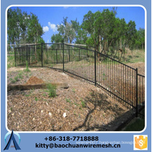 2015 hot sale Galvanised Dipped sloping terrain Steel Spear Top Security Fence Panels