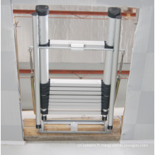 Échelle de grenier / Aluminium Allongé extensible pliant à triple / 3 sections de grenier mansardé Grenier Échelle de grenier fabriqué selon EN 14975 / SGS
