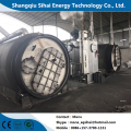 Scrap rubber refining to fuel pyrolysis system