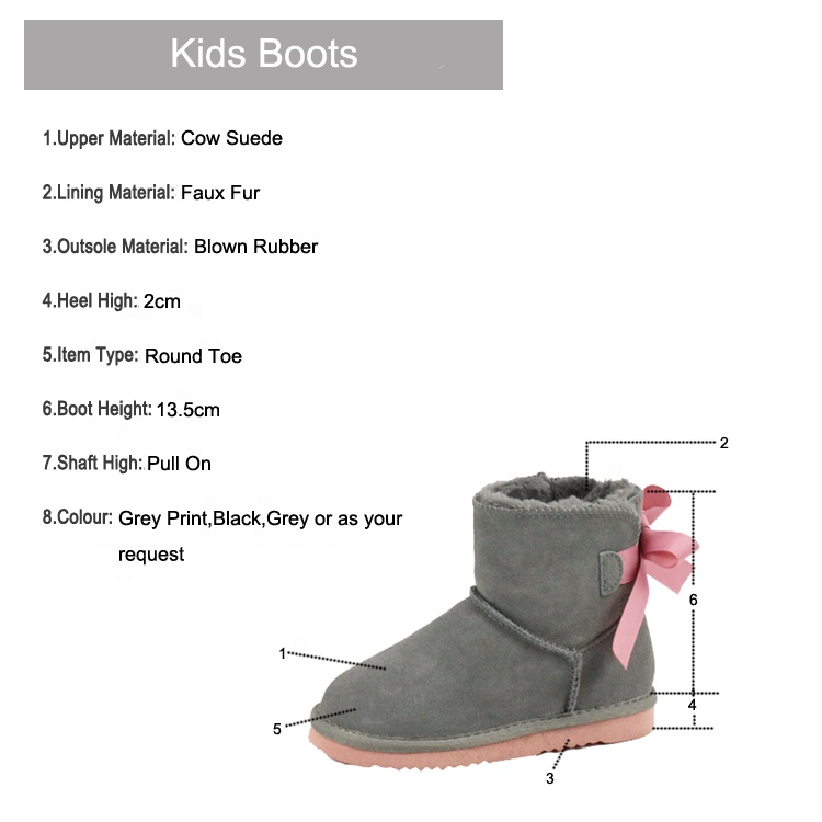 Children's ankle boots in winter