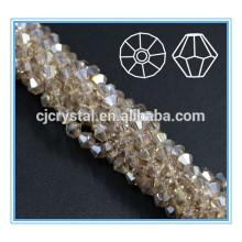 Gros perles de bicône perles de cristal strass et polissage