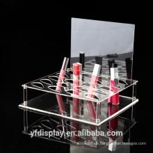 Hoher klarer populärer kosmetischer Anzeigenhalter der Acrylacryl, Kosmetik-Präsentationsständer