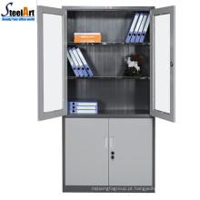 Hot sale top qualidade mobiliário de escritório dois projetos de gabinete de arquivo de ferro da porta