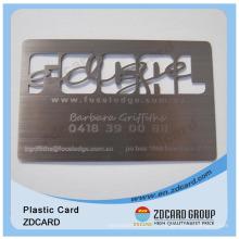 Metal Gold Card Carte creuse Carte plastique