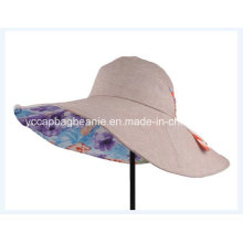 Chapéu da cubeta do verão das senhoras de Hotsale Reversiblel