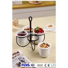 Hotel hot sale beautiful ceramic decorative deep bowl for fruit and snack