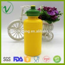 PP bouche à bouche large cylindre vide bouteille d'eau de bouteille de 400 ml avec couvercle