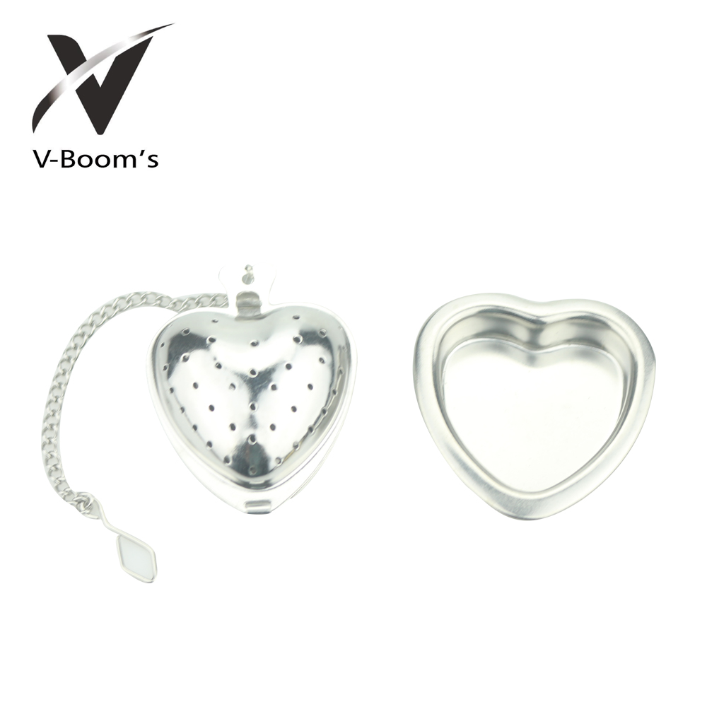 Cute Heart Shaped Metal Tea Infuser