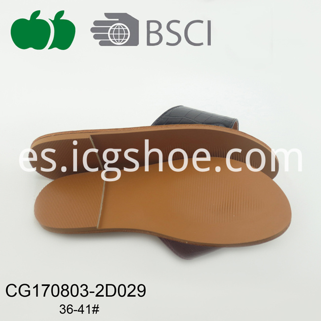 fashional flat pu slippers