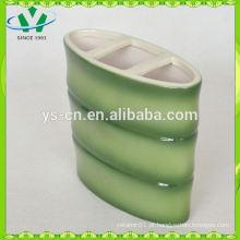Titular de escova de dentes do hotel verde com design de bambu