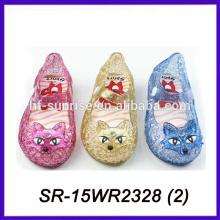 Sandalias transparentes de la jalea del estilo del zorro despejan las sandalias del pvc de las sandalias de la jalea del pvc