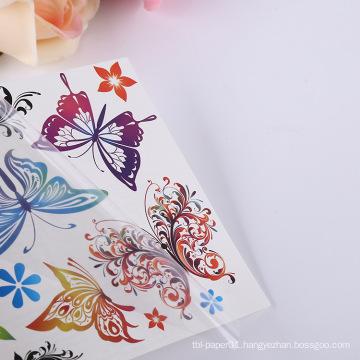 Wholesale Body Art Tattoo Sticker Waterproof Temporary Butterfly Floral Body Tattoo Sticker