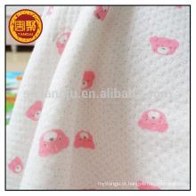 100% algodão intertravado tecido de malha
