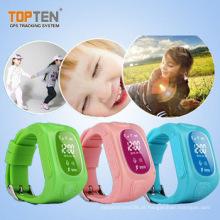 Crianças gsm gps relógio com melhor qualidade, botão sos, 2 way talk (wt50-kw)