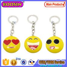 Custom Metal Happy Emoji Keychain with Keyring Promotion Gift