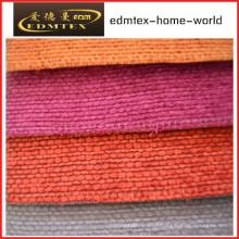 Tecido liso do Chenille para a embalagem do sofá nos rolos (EDM0229)