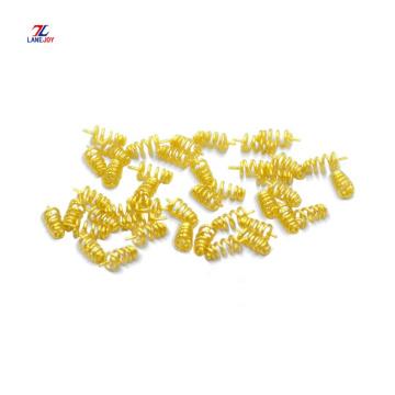 Kundenspezifische vergoldete Stecker Metall Pogo Pin Feder