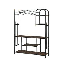 Estante de livros estável e durável Sala de estar Carrinho de TV carrinho de rack com arte de ferro