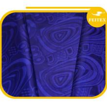 Dk bleu Shadda gros vêtements africains Bazin tissu brocart au détail pour les ventes Promotion