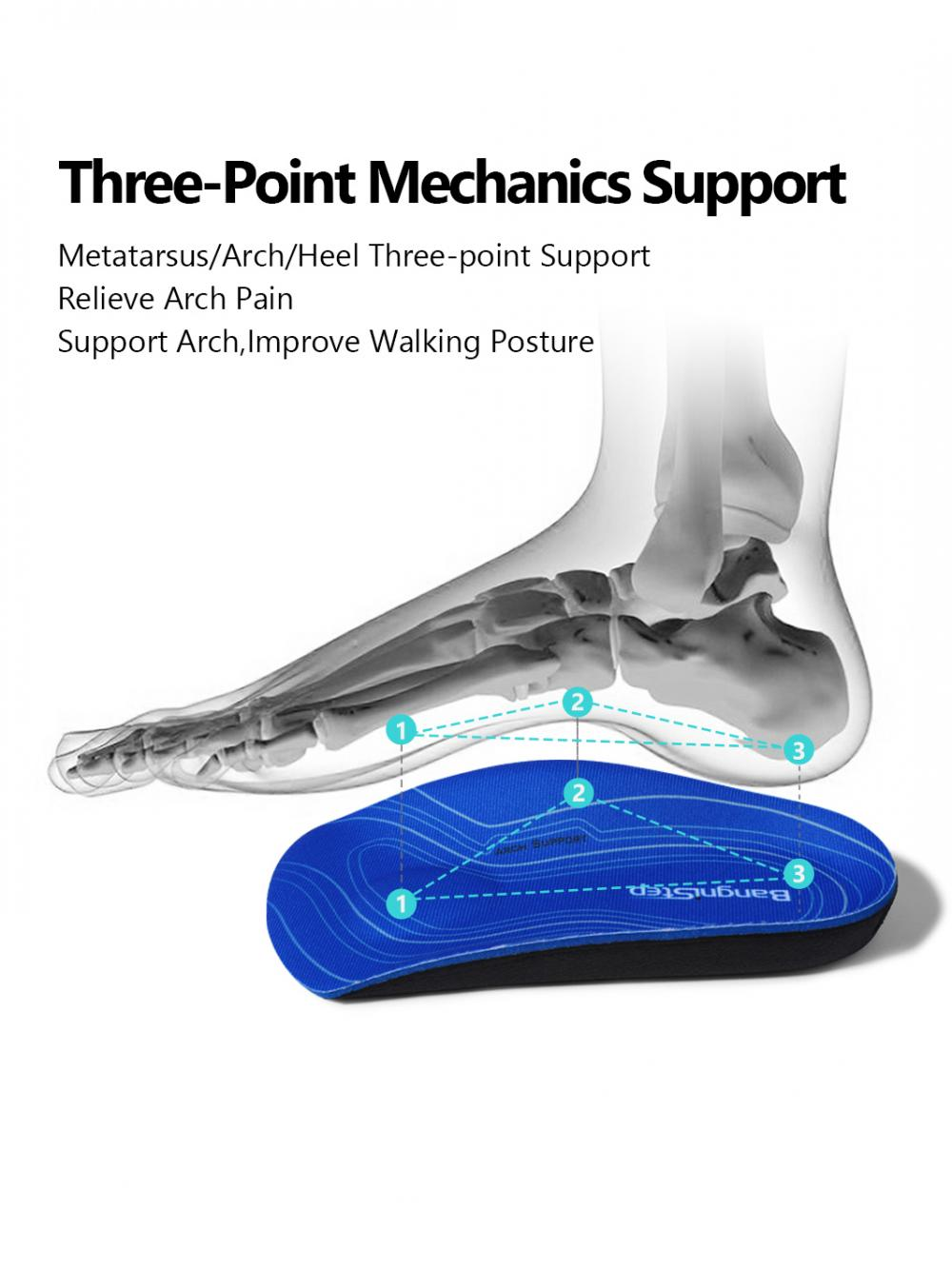 Half Orthotic Arch Support Plantar Fasciitis Insole 3