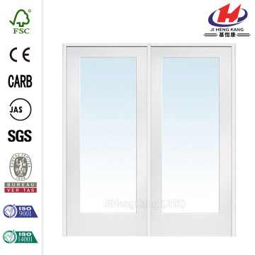 60 in. x 80 in. Classic Clear Glass 1-Lite Composite Double Prehung Interior French Door