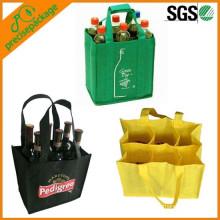 bolsa no tejida con separadores para botellas de vino