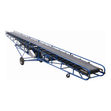 Sistema de transportador móvel tipo cinturão de borracha