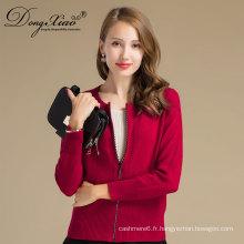 Chandail de Cachemire de la nouvelle marque d'automne et d'hiver de mode féminine, chandail de couleur pure