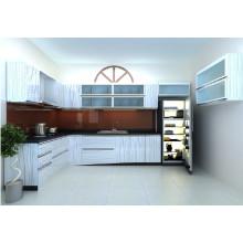 Cabinet de cuisine à haute brillance